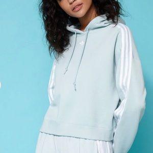Adidas women Mint green cropped hoodie